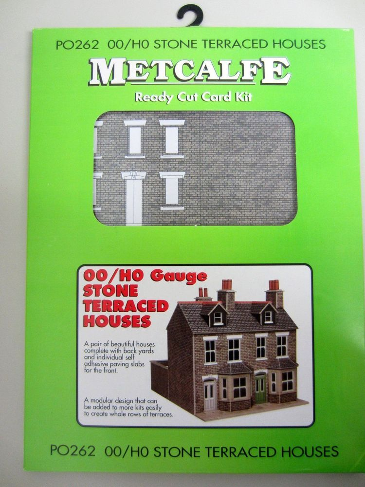 NEW* Metcalfe STONE TERRACED HOUSES PO 262 Ready Cut Card