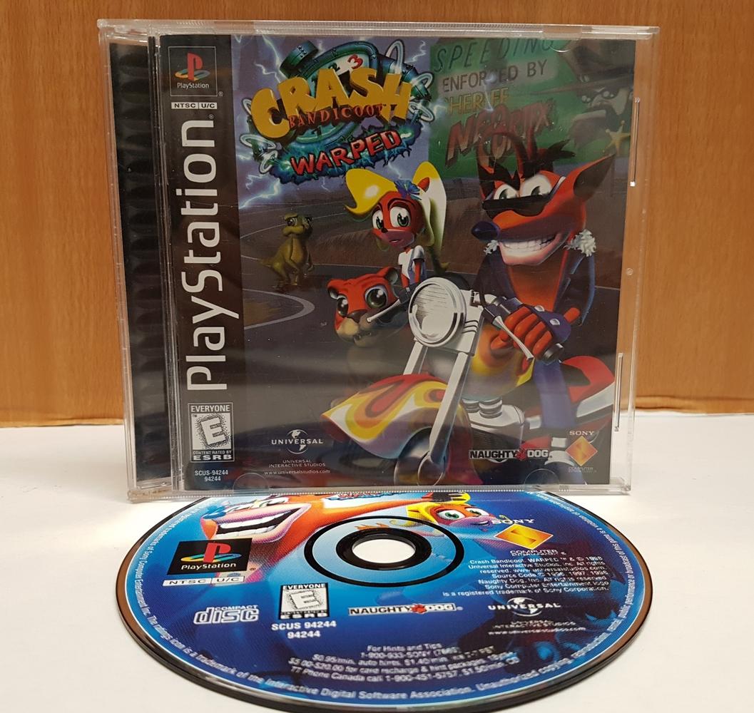 PS1 Crash Bandicoot 3 Warped